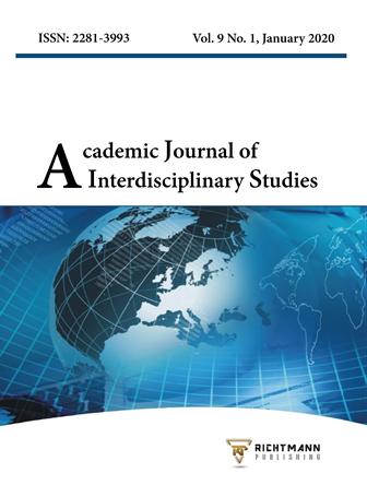 Academic Journal of Interdisciplinary Studies. Scopus Indexed and peer reviewed journal